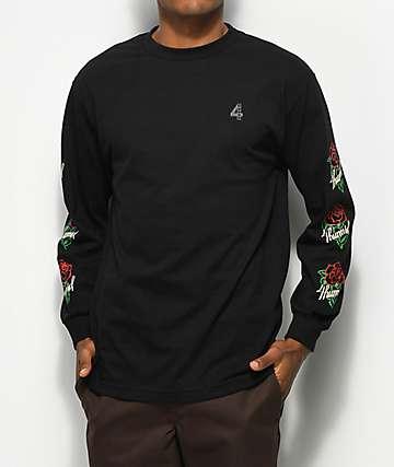 4 Hunnid La Rosa Black Long Sleeve T-Shirt