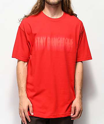 4 Hunnid Stay Dangerous Blur Red T-Shirt