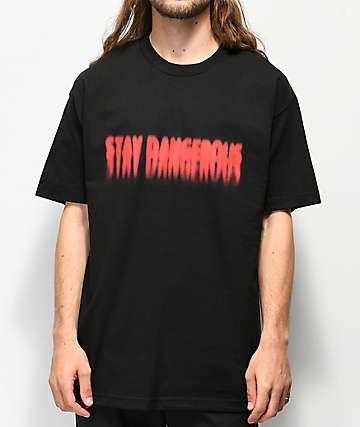4 Hunnid Stay Dangerous Blur camiseta negra