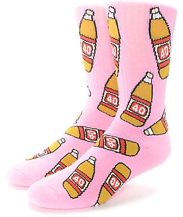 40's & Shorties 40's Pink Crew Socks