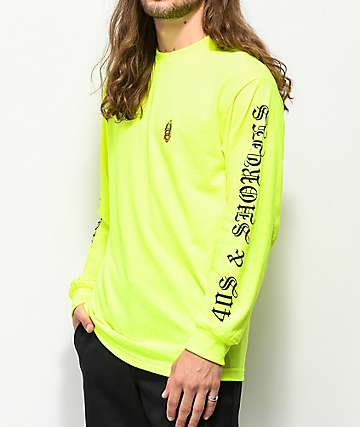 40's & Shorties Safety Green Long Sleeve T-Shirt