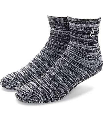 40's & Shorties Speckle Black Quarter Length Socks