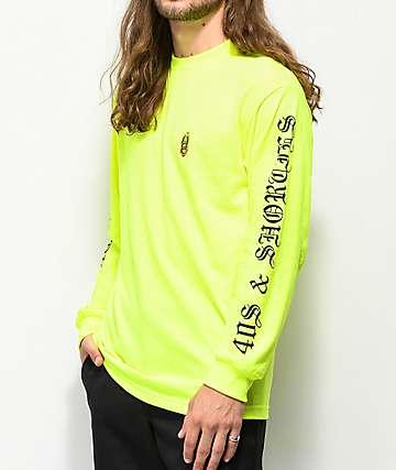 40's & Shorties camiseta de manga larga amarillo neón