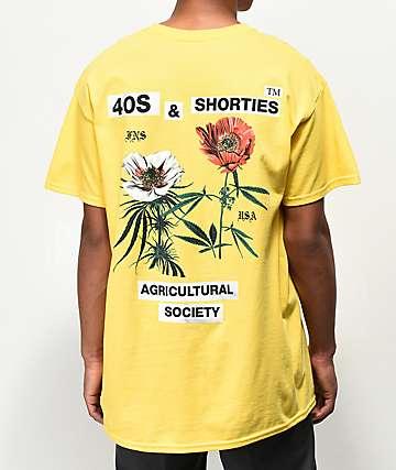 40's & Shorties Agriculture camiseta amarilla