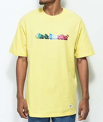 40s & Shorties 3D Text Logo Light Yellow T-Shirt