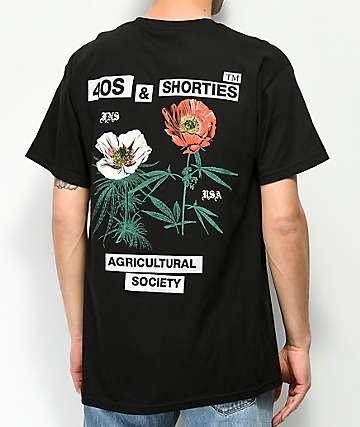 40s & Shorties Agriculture camiseta negra