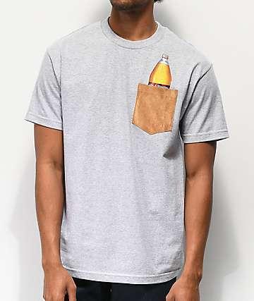 40s & Shorties Bag It Grey Pocket T-Shirt
