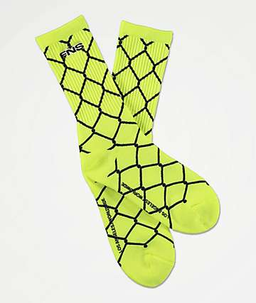 40s & Shorties Chain Link Safety Green Crew Socks