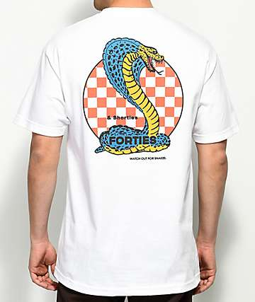 40s & Shorties Cobra White T-Shirt
