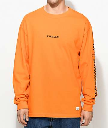 40s & Shorties F.U.B.A.R. Orange Long Sleeve T-Shirt