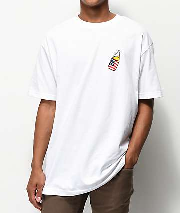 40s & Shorties Flag Coozie White T-Shirt