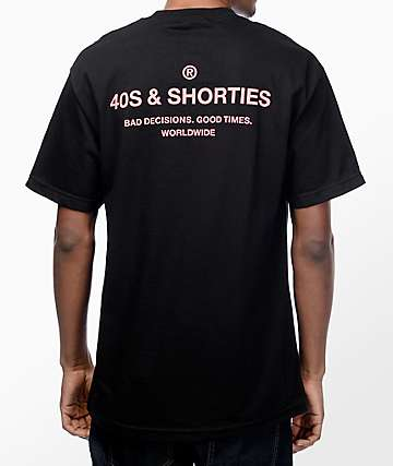 40s & Shorties General Black & Pink T-Shirt