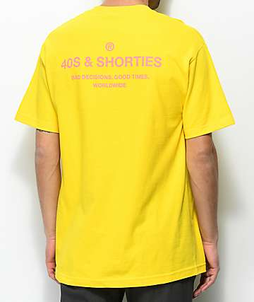 40s & Shorties General Yellow & Pink T-Shirt