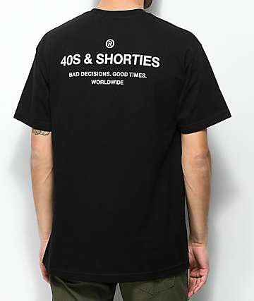40s & Shorties General camiseta negra y blanca
