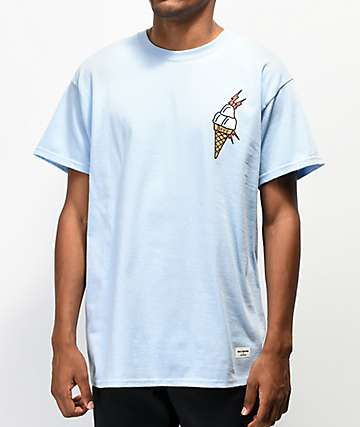 40s & Shorties Ice Cream Blue T-Shirt