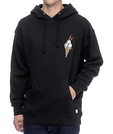 40s & Shorties Ice Cream sudadera negra con capucha