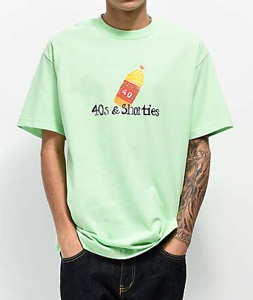 40s & Shorties Magic Marker Mint Green T-Shirt
