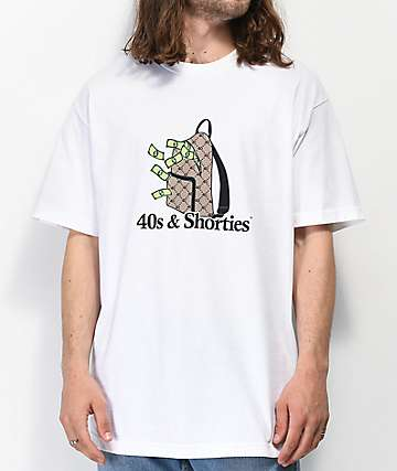 40s & Shorties Money Bag White T-Shirt