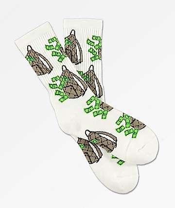 40s & Shorties Money Bags calcetines blancos