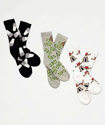 40s & Shorties OG Twerk, Rain & Cup 3 Pack Crew Socks