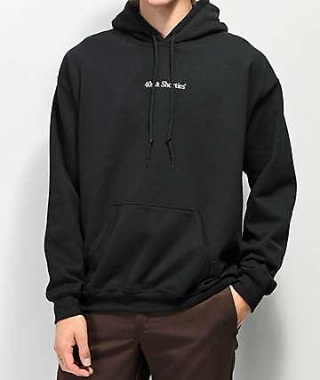 40s & Shorties Premium Black Hoodie