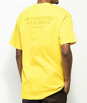 40s & Shorties Standard Tonal Yellow T-Shirt