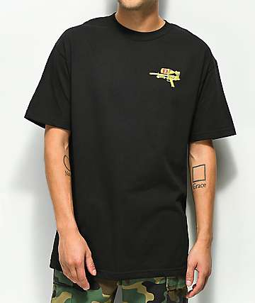 40s & Shorties Super Soaker Black T-Shirt