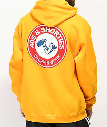 40s & Shorties Whippin Work Yellow Hoodie