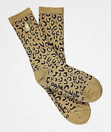 40s & Shorties calcetines de leopardo oliva
