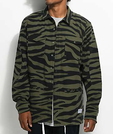 40s & Shorties Bravo Tiger Camo Shirt Jacket