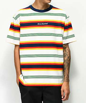 40s & Shorties Sundown Multi Stripe T-Shirt