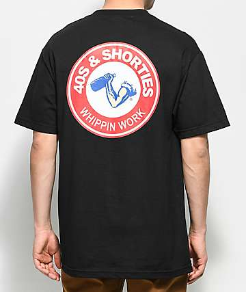 40s & Shorties Whippin Work Black T-Shirt