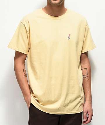 40s and Shorties Flower Bottle camiseta amarilla