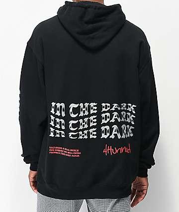 4Hunnid 4Real Dark Black Hoodie