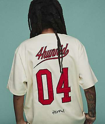 4Hunnid Bases Loaded Cream Jersey