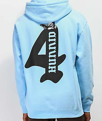 4Hunnid Cupid Light Blue Hoodie