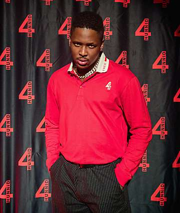 4Hunnid Grand Red Long Sleeve Polo Shirt