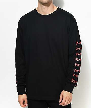 4Hunnid Hit Up Arms Black Long Sleeve T-Shirt