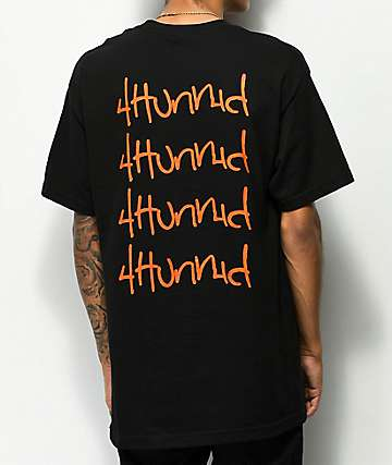 4Hunnid Hit Up Repeat camiseta negra