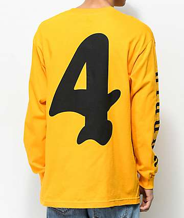 4Hunnid Olde Yellow Long Sleeve T-Shirt