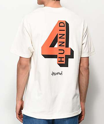 4Hunnid Shadow Logo Tan T-Shirt