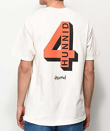 4Hunnid Shadow Logo Tan T-Shirt