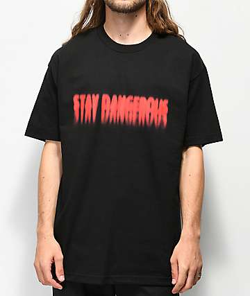 4Hunnid Stay Dangerous Blur Black T-Shirt