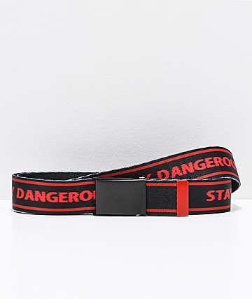 4Hunnid Stay Dangerous cinturón tejido