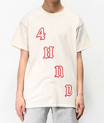 4Hunnid Team Cream T-Shirt