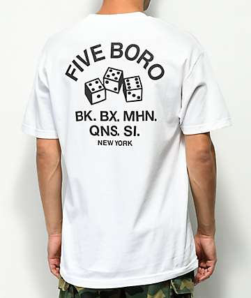 5Boro 4-5-6 Dice White T-Shirt