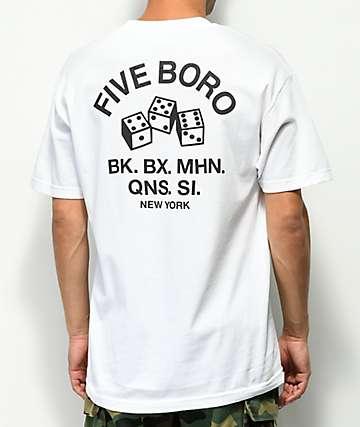 5Boro 4-5-6 Dice camiseta blanca
