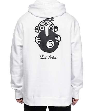 5Boro 5 Ball White Pullover Hoodie