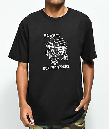 5Boro Always Run Black T-Shirt