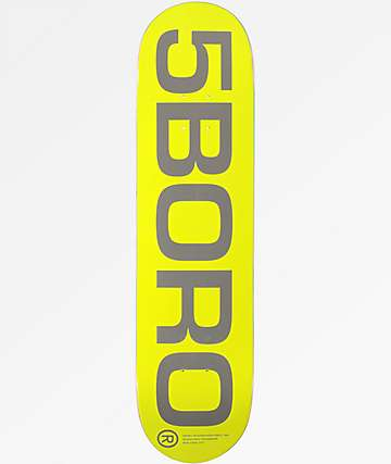"5Boro Exit Logo Yellow 8.0"" Skateboard Deck"